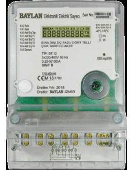 BT.12 Trifaze Aktif Elektronik Elektrik Sayacı