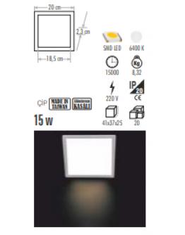 CT-5138 15W KARE LED PANEL