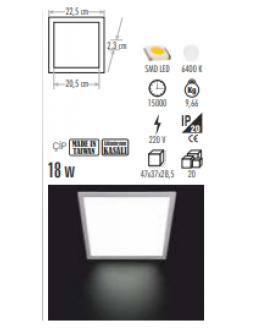 CT-5139 18W KARE LED PANEL